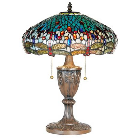 Dragonfly Tiffany Style Table Lamp
