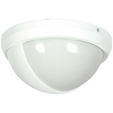 "White Finish 10 1/2"" High Outdoor Wall Light"