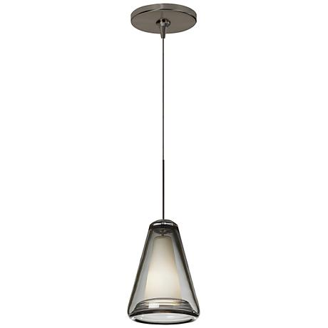 "Tech Lighting Billow 5"" Wide Smoke Glass Bronze Mini Pendant"