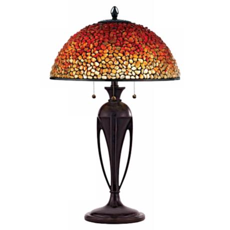 Quoizel Pomez Tiffany Table Lamp