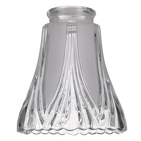 "2 1/4"" Fitter Set of 4 Large Frost/Clear Glass Shade"