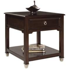 Darien Burnt Umber Rectangle End Table