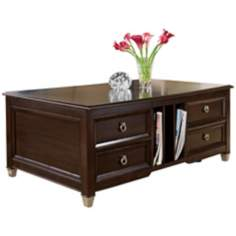 Darien Lift Top Rectangular Burnt Umber Cocktail Table