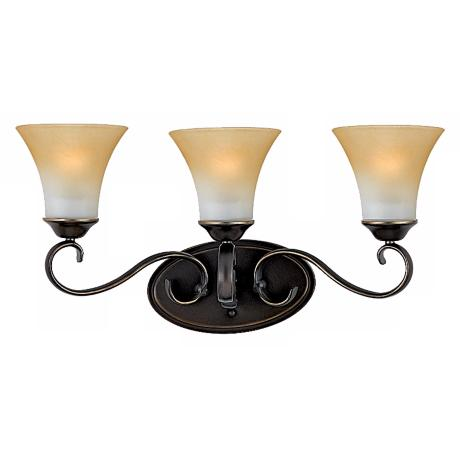 "Duchess Collection 23"" Wide Three Light Bathroom Fixture"