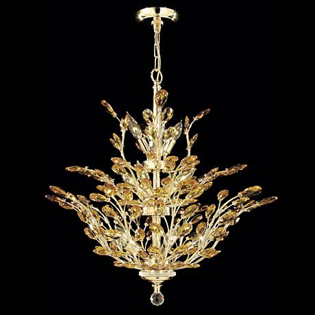 "James R. Moder Florale Collection Gold 27"" Wide Chandelier"