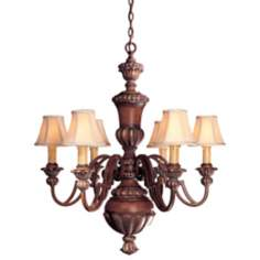 "Belcaro Collection 31"" Wide Fabric Shade Chandelier"