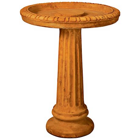 Henri Studio Fluted Cast Stone Bird Bath