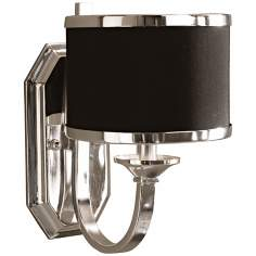 "Uttermost Tuxedo Collection Silver 11 1/2"" High Sconce"
