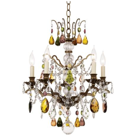 Schonbek Gallia Collection Multi Color Crystal Chandelier