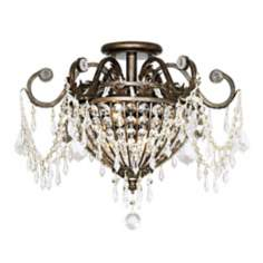 "Crystorama Parisian 19"" Wide Ceiling Light Fixture"