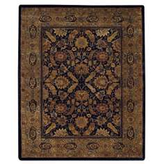 Coat of Arms Black Area Rug