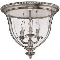 "Cambridge Collection Pewter 14 1/2"" Wide Ceiling Light"
