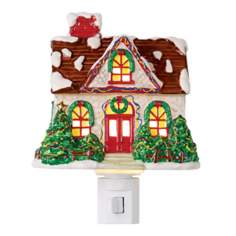 Snow Covered Cottage Night Light