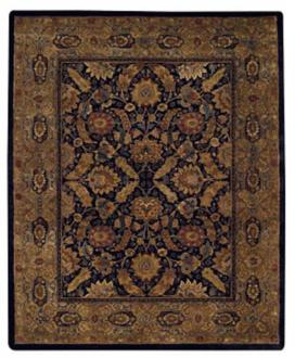 "Coat of Arms Black 7' 6"" x 9' 6"" Area Rug (22556)"