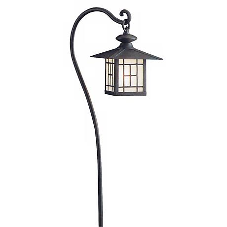 Kichler Patina Bronze Lantern Landscape Path Light  22568 on landscape lighting connectors