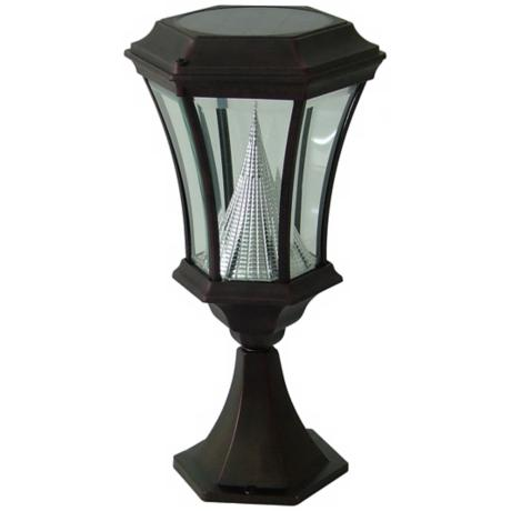 Black Solar Lamp LED post Light