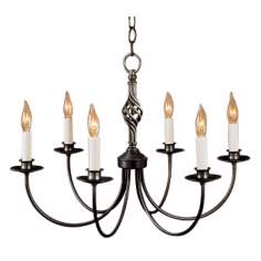 Hubbardton Forge Black Twist Basket Chandelier