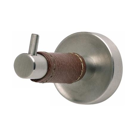 Zanzibar Collection Stainless Steel Saddle Leather Bath Hook