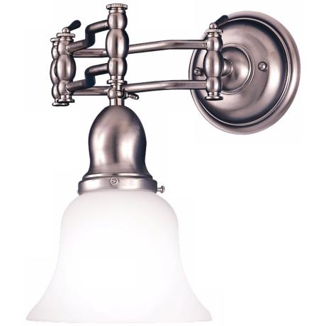 Satin Nickel Swing Arm Wall Light
