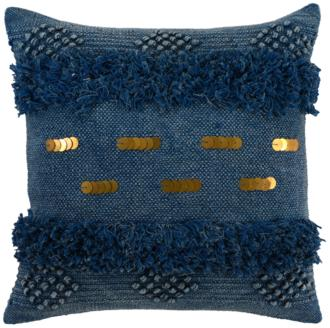 "Seine Ink Blue 22"" Square Decorative Pillow (22A10) 22A10"