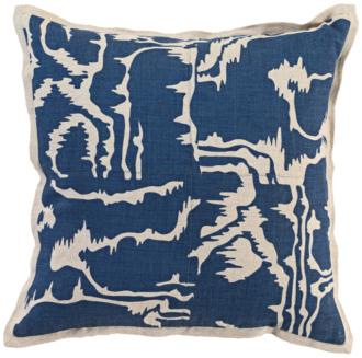 "Savoir Ink Blue 18"" Square Decorative Pillow (22A16) 22A16"