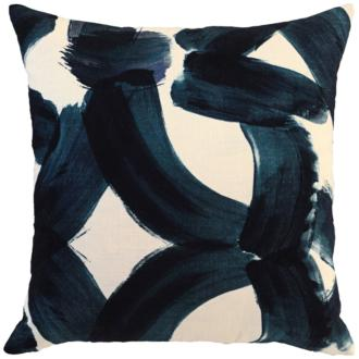 "Raye Ink Blue 22"" Square Decorative Pillow (22K20) 22K20"