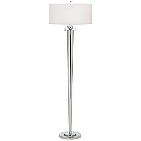 Messina Polished Steel Double Pull Floor Lamp