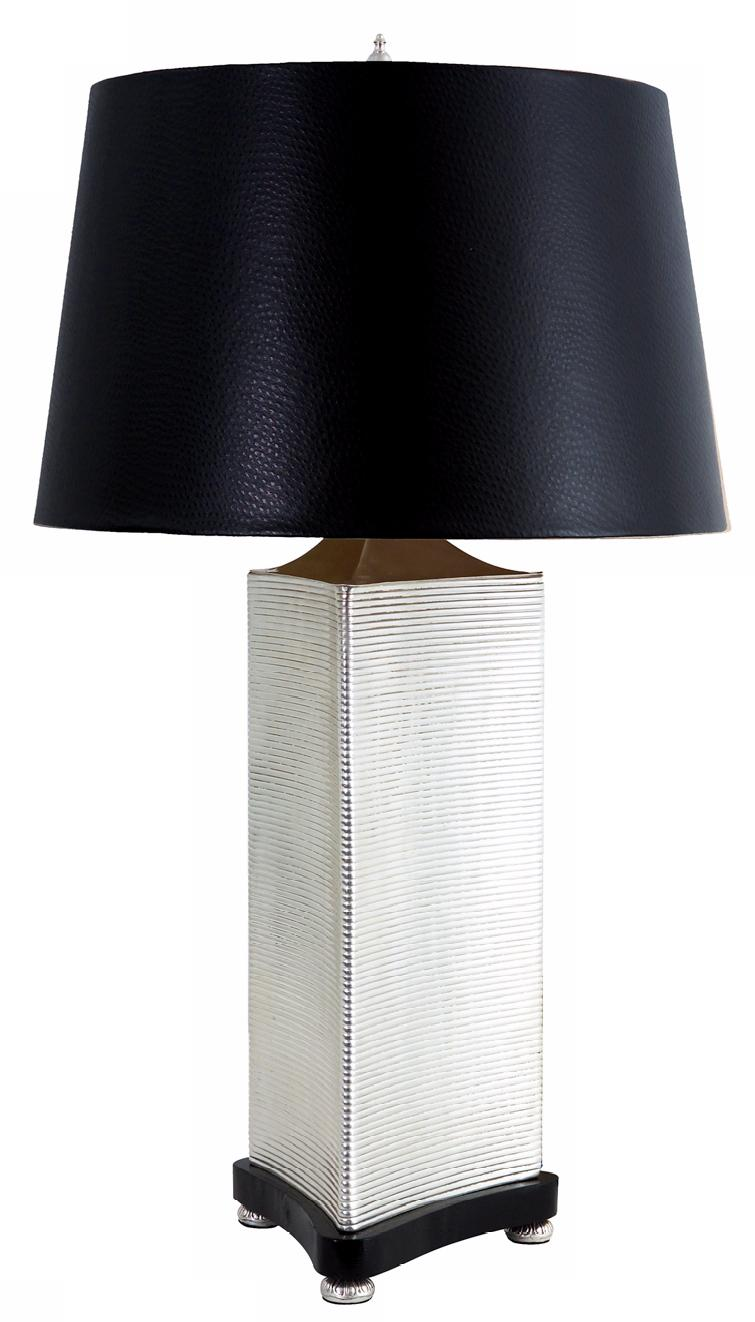 Larry Laslo Uptown Nickel Triangular Table Lamp (23109)