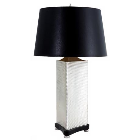 Larry Laslo Uptown Nickel Triangular Table Lamp