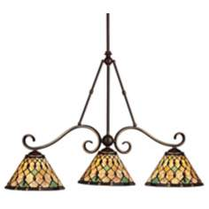 "Timeless Traditions 36"" Wide Island Chandelier"