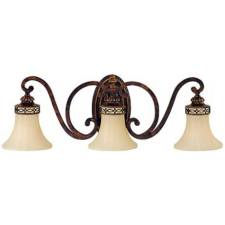 "Feiss Edwardian Collection 27"" Wide Bathroom Light Fixture"