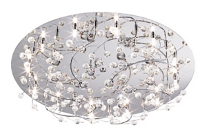 Contemporary Crystal Ceiling Light Picture