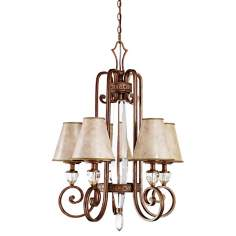 "Hanna Collection Heritage Bronze 26"" Wide Chandelier"