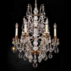 Schonbek Six Light Legacy Crystal Chandelier