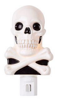 Haloween Skull Night Light Photo