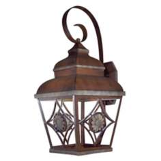 "Fleur Medallion 22 3/4"" High Dark Sky Outdoor Wall Mount"