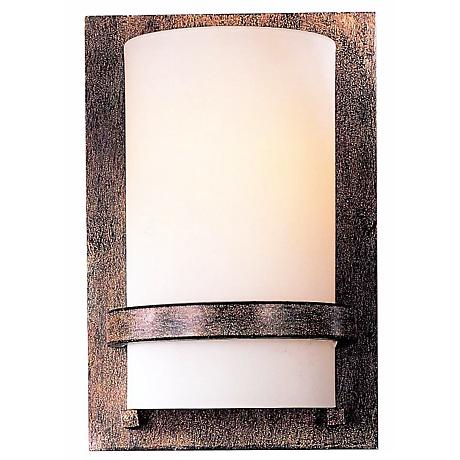 "Contemporary Iron 10"" High Wall Sconce"