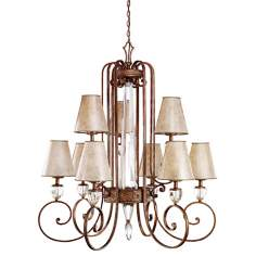 "Hanna Collection Heritage Bronze 48"" Wide Chandelier"