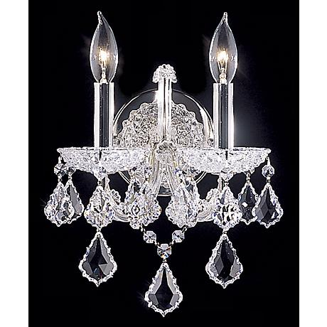 "James R. Moder Maria Teresa Grand 14""H Swarovski Wall Sconce"