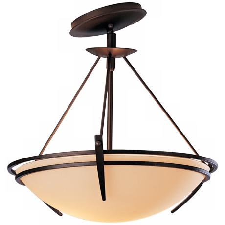 "Presidio Tryne Bronze 16 1/2"" Wide Slope Mount Ceiling Light"