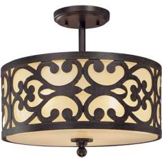"Nanti Collection Iron Oxide 14"" Wide Ceiling Light"