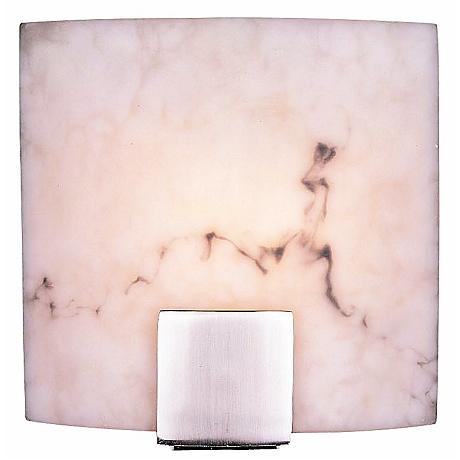 "Fedi 9"" Wide Alabaster Dust Wall Sconce"