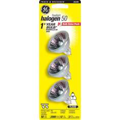 GE 50 Watt MR16 3-Piece Value Pack Halogen Light Bulbs