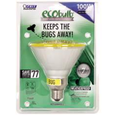 PAR38 23 Watt Yellow Outdoor Flood CFL Bulb