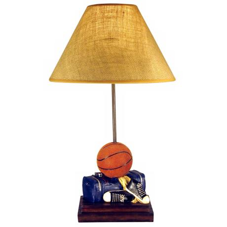 Hand Painted Basketball Table Lamp