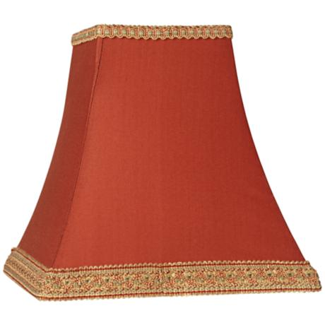 Rust Square Sided Lamp Shade 5x10x9 Spider 24861