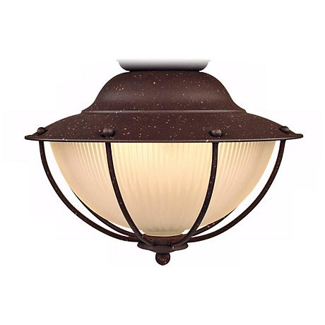 Outdoor Rust Cage Ceiling Fan Light Kit