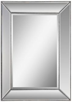 "Whitney Silver Leaf 34"" x 46"" Rectangular Wall Mirror (24C33) 24C33"