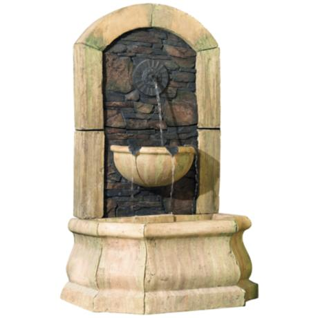 "50"" High Faux Slate Floor Fountain"