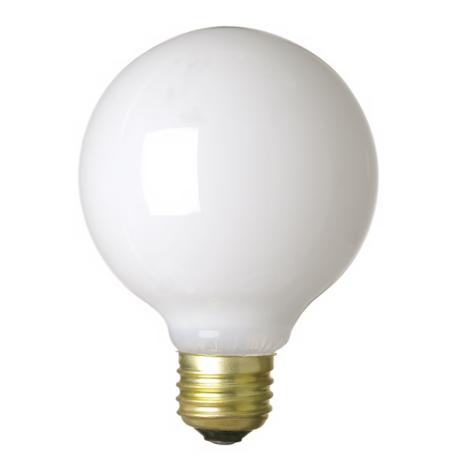 60-Watt G-25 White Light Bulb